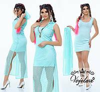 Женский костюм (42, 44, 46)  — трикотаж микро масло купить в розницу в одессе  7км