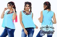 Блузка (42, 44, 46) —  бенгалин  купить в розницу в одессе 7км