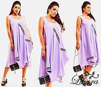 """Модное, летнее Платье """"Монитта"""" ткань - лён, круглый вырез воротника, 3 цвета"""