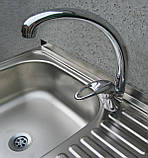 Кран кухонний CHAMPION LUXOR (гусак 30см), фото 5
