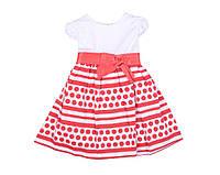 Платье Deva 9901 Белый,красный