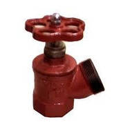 Вентиль (кран) пожарный угловой ПК-70 чугунный