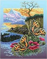 Схема для вышивки бисером Бабочки крапивницы (А3)
