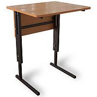 """Стол """" Аудиторный """" ученический ,регулируемый по высоте одноместный с царгой для школьника любого возраста"""