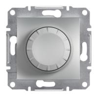Светорегулятор поворотный  (315 ВТ) алюминий (для диммеруемых LED ламп) ASFORA Schneider Electric EPH6600161