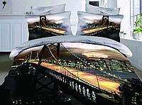"Евро комплект постельного белья 3D ""ЛАЙТ НАЙТ""  (TK)"