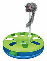 Игрушка Trixie Crazy Circle для кошек, с мышкой, 29х29 см