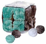 Игрушка Trixie Plush Cub для кошек, мягкий куб с шариками, 14 см