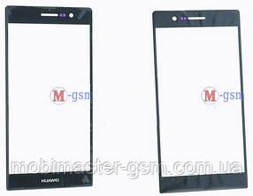Корпусное стекло на  Huawei P7 черное