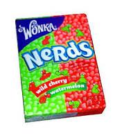 Wonka Nerds - Американские конфеты - драже Nerds от Вилли Вонка (Willy Wonka) Watermelon and Wild Cherry 46.7g