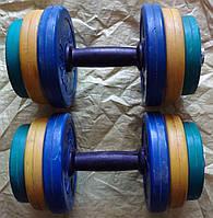 Гантелі набірні 10 кг. покриті полімером