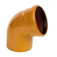 Колено канализационное наружное 110/90*