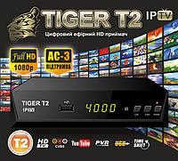 Т2 ресивер тюнер TIGER IPTV + Internet+ кинотеатр MEGAGO +AC3 звук
