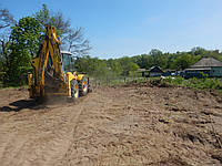 Расчистка участка под строительство