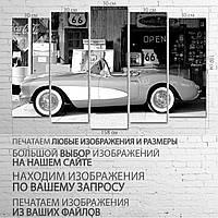 "Модульная картина на холсте ""Шевроле Корвет"" 100х150 см"