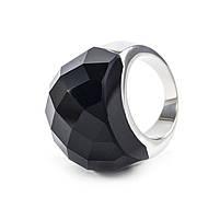 Кольцо крупное с черным граненым камнем Арт. RN058SL (19), фото 3