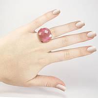Кольцо крупное с розовым граненым камнем Арт. RN059SL (19), фото 4