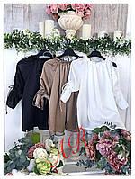 Блуза (Фабричный Китай) качество люкс ткань шелк размер универсальный 42/46 длина 60 см.