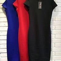 Платье (48-52) футляр Midi цвета в ассортименте черное