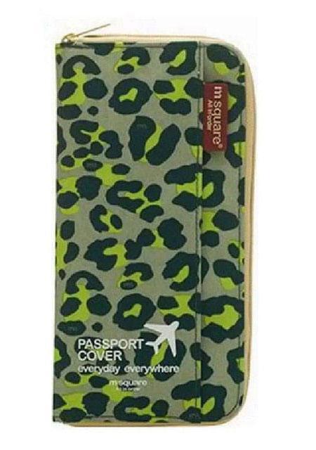 Органайзер для документов зеленый леопард