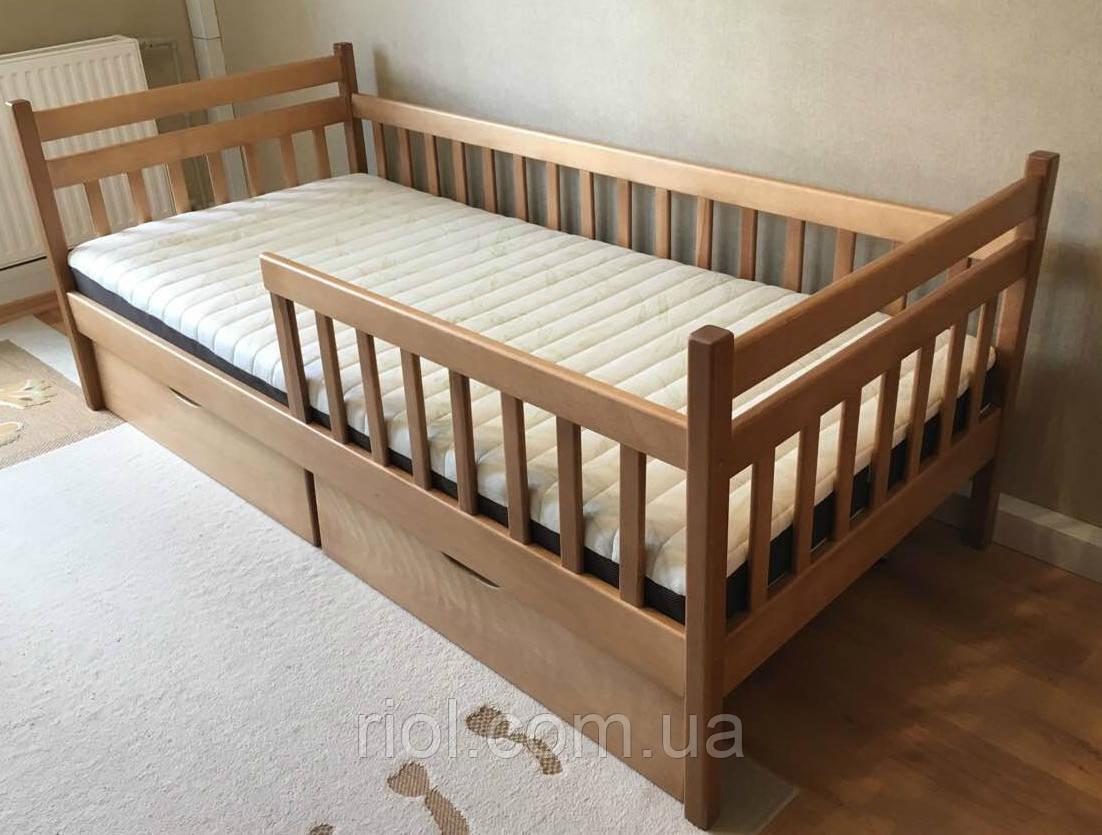 Кровать односпальная Буратино из массива бука