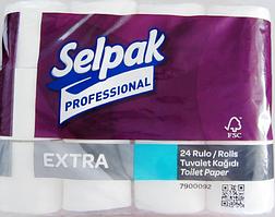 Selpak Pro. Extra Папір туалетний целюлозний 2-х шар. 22,3м 24шт (3шт/ящ)