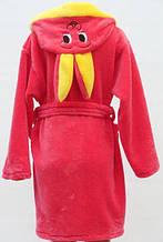 Махровый халат для детей Заяц персиковый БП