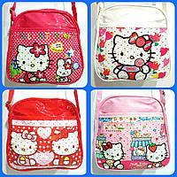 "Сумка детская ""Hello Kitty"" с ремешком через плечо  с карманом"