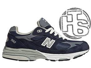 Мужские кроссовки New Balance 993 USA Blue WR993NV. Любимые кроссовки Джобса