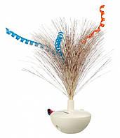 Игрушка-неваляшка Trixie Feather Wobble для кошек с перьями, 5х14 см