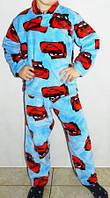 Качественная детская пижама из велюра Тачки БП