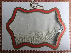 Праздничная круглая скатерть Тройное кружево Kugulu, фото 2