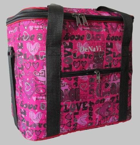 Термо сумка с принтом, малиновая - Styleopt.com в Харькове