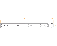 Противоподкатный брус для полуприцепа 2300мм х 220 мм х 105 мм Takler Италия