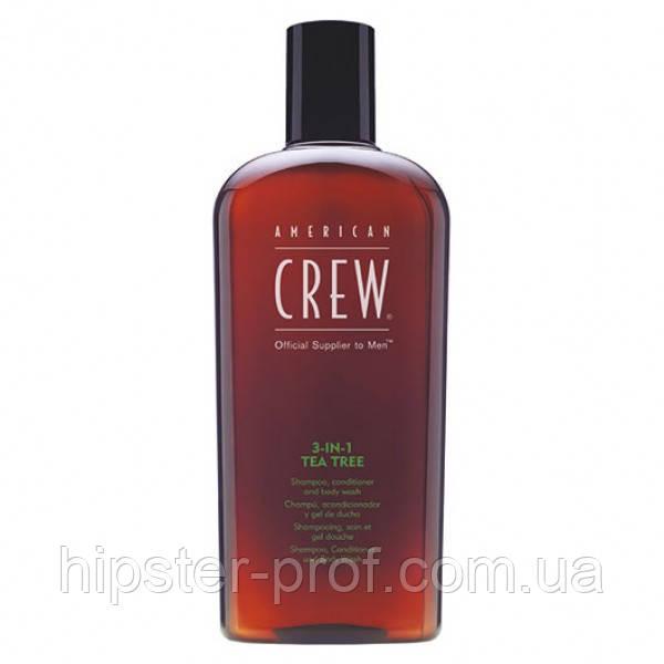 Средство по уходу за волосами и телом American Crew Tea Tree 3-in-1 450 ml