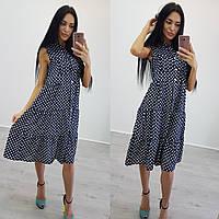 Женское платье (S-M) —креп шифон купить в розницу в одессе  7км