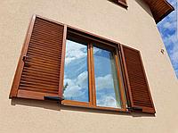 Деревянные ставни жалюзи на окна