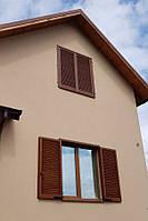 Деревянные ставни жалюзи на окна не поворотные ламели
