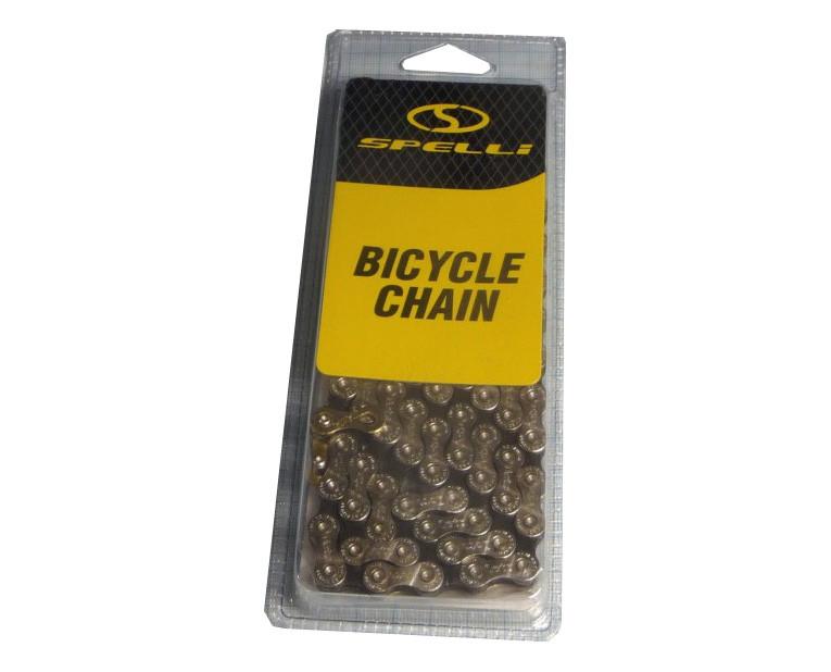 Цепь велосипеда Spelli SCH-900 (9 скоростей)