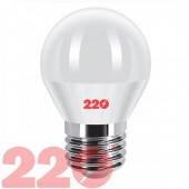 Светодиодная LED лампа G45 5.0W 220В E14 3000К 220тм