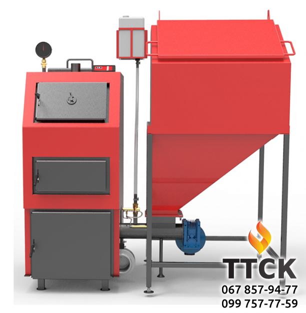 Твердотопливный котел Ретра-4М DUO мощностью 50 кВт