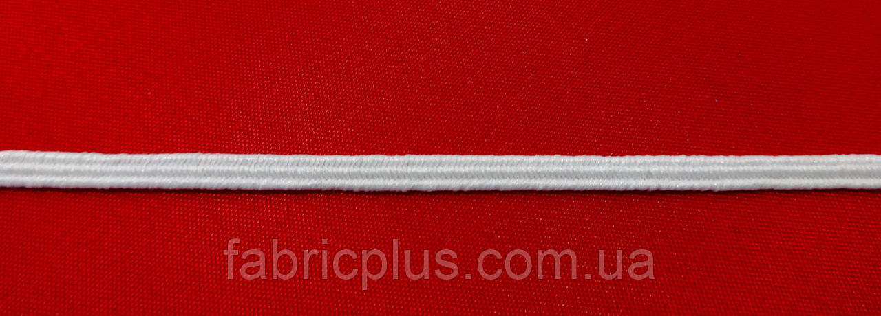 Резинка  3 мм  петельная  белая