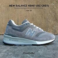 Женские кроссовки NEW BALANCE 997 OG Grey в наличии. Размер 38