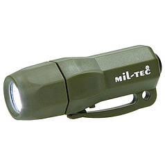 Фонарик карманный три светодиода MilTec LED MINI RESCUE 15180001