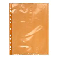 Файл А4+ глянцевый, 40 мкм, 100 шт., цвет: оранжевый, красный.