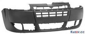 Передний бампер Fiat Doblo 05-09 черный (FPS)