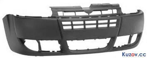 Передний бампер Fiat Doblo 05-09 черный (FPS) 735417815, фото 2