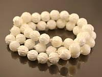 Коралл белый 8мм, резной низка