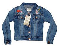 Куртка джинсовая для девочек оптом, Seagull, 134-164 рр.,  № CSQ-89862