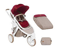 Универсальная коляска Lorelli CALIBRA 3  BEIGE&RED